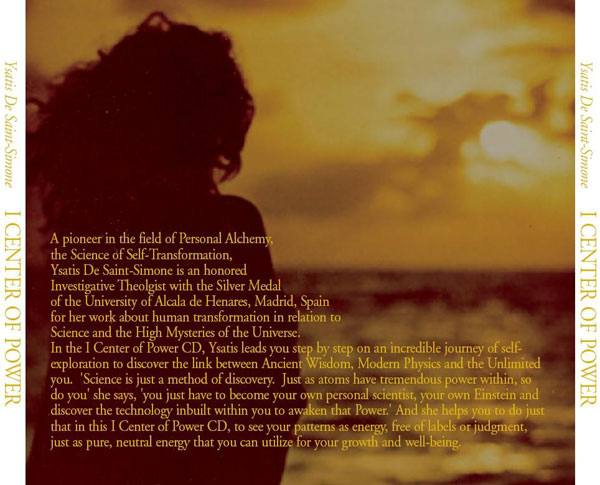 I Center of Power CD Back Cover