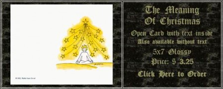 The Meaning of Christmas Open Card